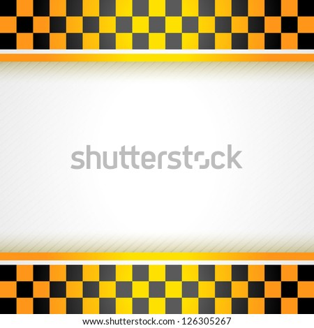Cab background square, vector illustration 10eps