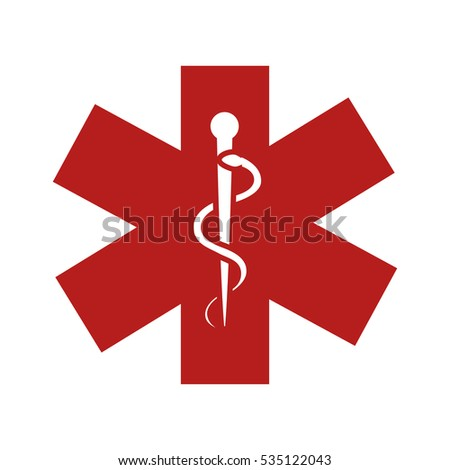 caduceus sign isolated icon