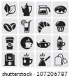 cafe icons - stock photo