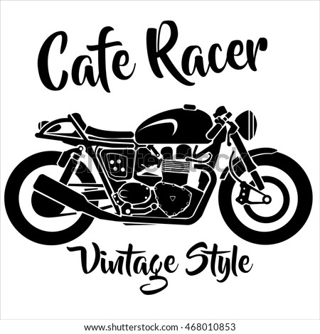 vintage cafe racer motorcycle vector isolated stock vector