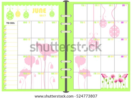 Calendar Daily Planner Template Monthly December Stock Vector ...