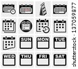 Calendar vector icons set. - stock vector