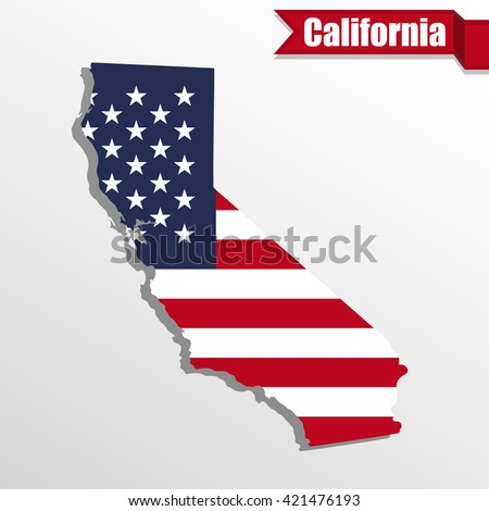 Florida State Map Us Flag Inside Stock Vector Shutterstock - Us flag map