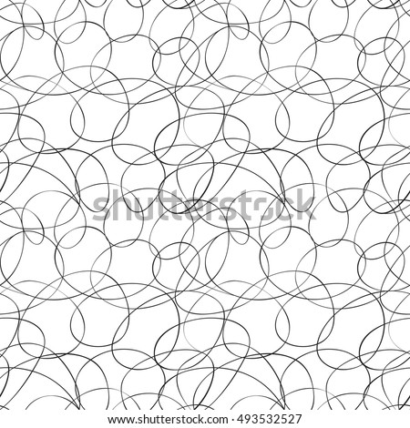calligraphic curved lines pattern