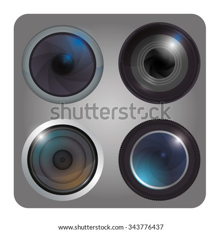 Camera concept and technology icons design, vector illustration 10 eps graphic.