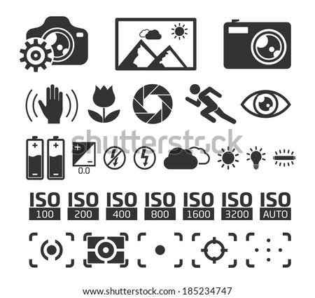 camera display screen symbols