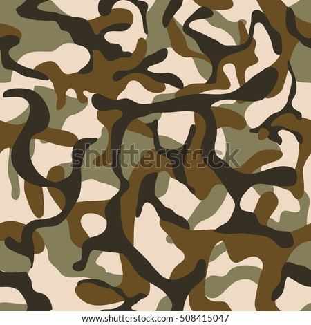Camouflage, military camo vector seamless pattern. Army background clothing for uniform soldier illustration
