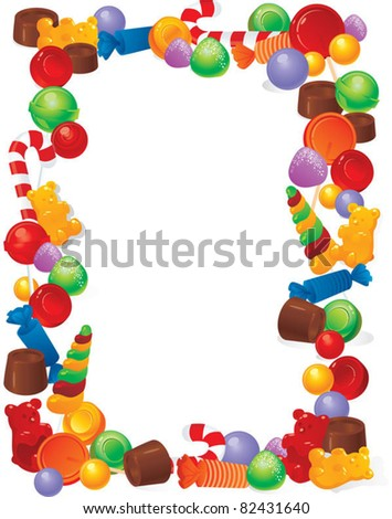 Candy Bar Border Clip Art Candy frame - stock vector