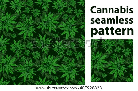 Cannabis leafs seamless vector pattern