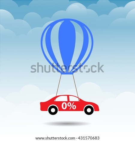 car and balloon design icon,vector.