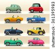 car icon set-6 - stock vector