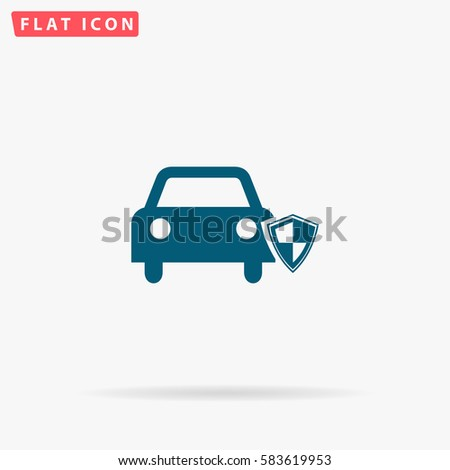 icon vector design car insurance web icon vector design car icon flat