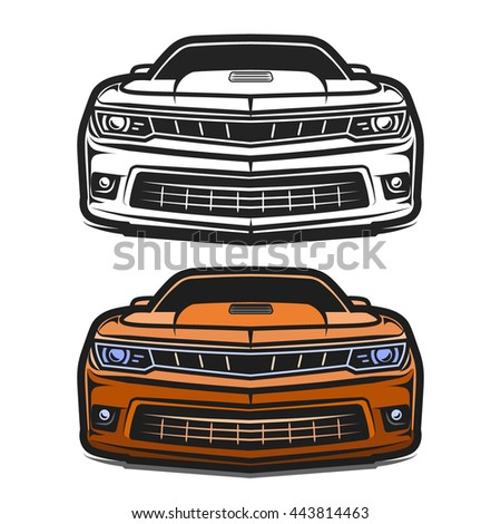 Car muscle sport comic design vector illustration