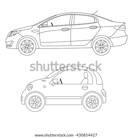 car profile line art