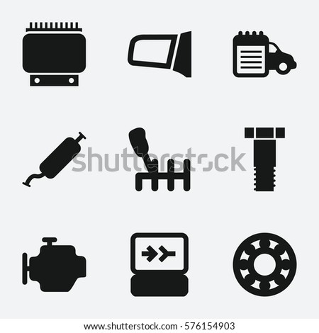 Set Vector Icons On Theme Hardware Stock Vector 427892113