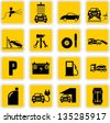 Car service & repair icons - stock vector