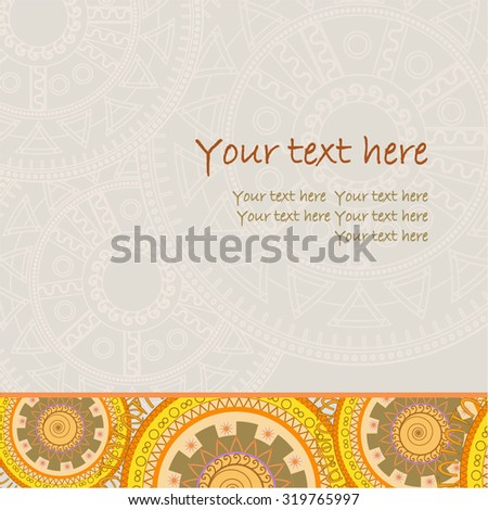 card ethnic style