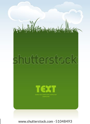 Card with a grass