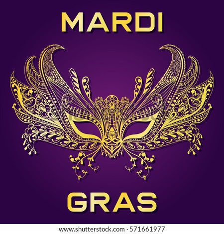 Vintage Style Mardi Gras Celebration Stamp Stock Vector ...