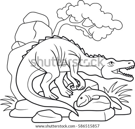 Coloring Pages Marine Wild Animals Mother Stock Vector 432233917 ...