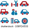 cars icons, vector - stock vector