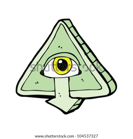cartoon all seeing eye symbol