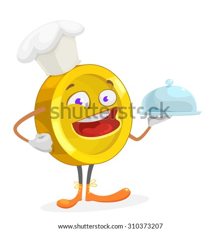 cartoon character gold yellow coin