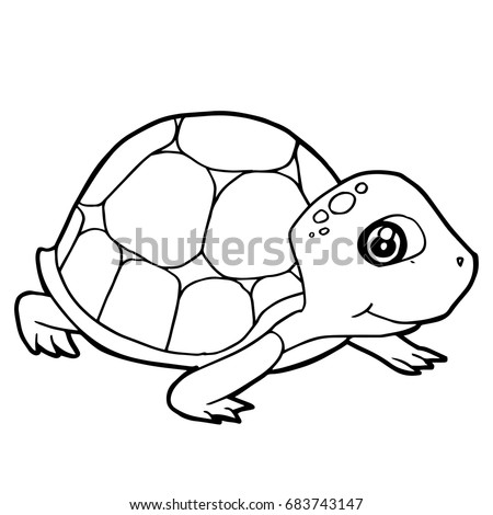 Cartoon turtle vector stock vector 453884557 shutterstock for Cute coloring pages of turtles