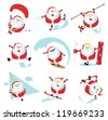 Cartoon extreme Santa  set ?1. EPS 10. Separate layers - stock vector