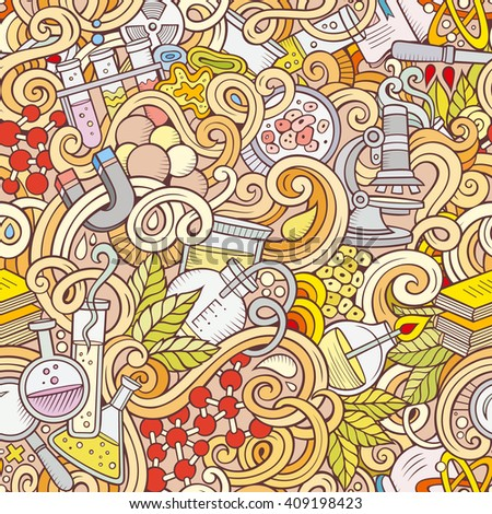 Colorful Bright Doodle Background Fastfood Theme Stock