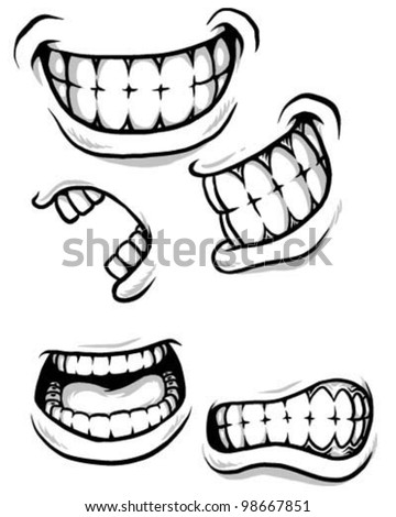Angry Mouth Coloring Pages Cartoon Teeth Sketch Page