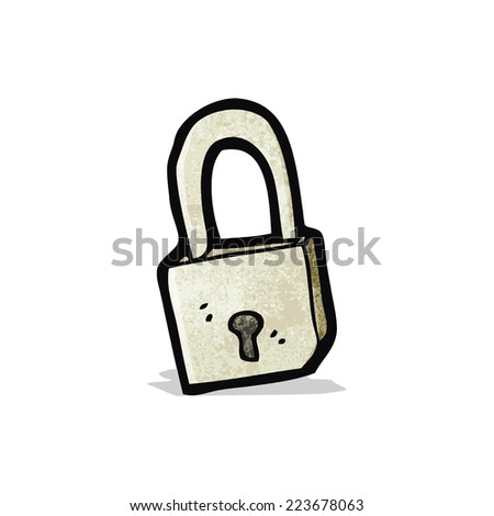 cartoon padlock