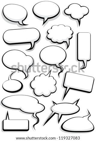 Cartoon speech bubble set