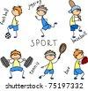cartoon sport icon - stock vector