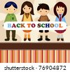 cartoon student card/back to school - stock vector