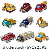 cartoon truck icon - stock photo