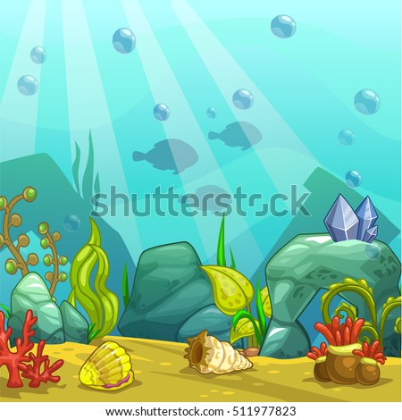 underwater world vector illustration stock vector