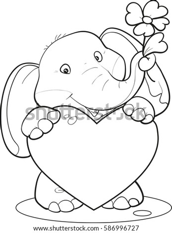 elephant with nuts coloring pages - photo#43