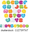 Cartoon Vector Font. Isolated Letters and Numbers for your Design - stock vector