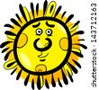 Cartoon Vector Illustration of Funny Sun Comic Mascot Character - stock vector