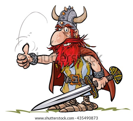 Cartoon Viking warrior.