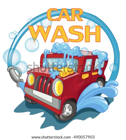 carwash red car wash foam and water car washer detergent for washing cars