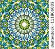 Casablanca Mosque Seamless Pattern - stock photo