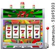 casino slot machine with colorful background vector illustration - stock photo