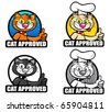 Cat Approved Seal / Icon / Badge - stock vector