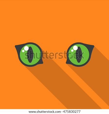 Cat eyes icon of vector illustration for web and mobile