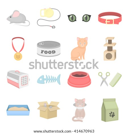 Cat icons set.