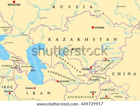 Russia Highly Detailed Editable Political Map Stock Vector