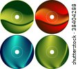 CD - DVD Label Design template - stock photo