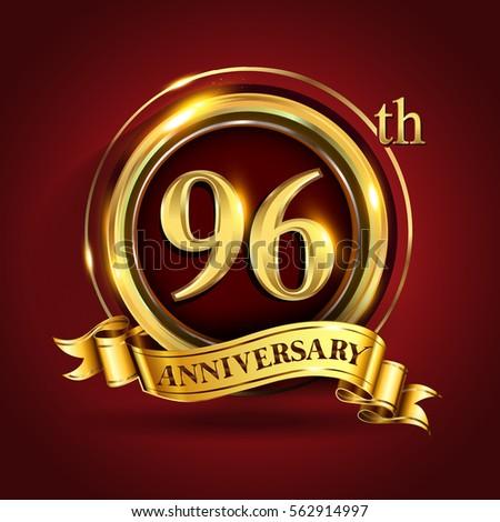 80th Years Golden Anniversary Logo Celebration Stock ...